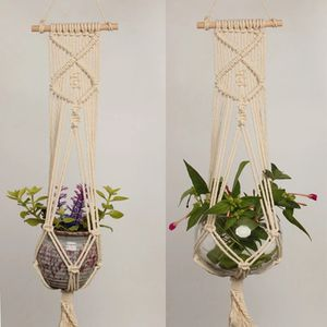 1pc Large-sized Plant Hanger Basket Handmade Rope Pots Holder Fine Hemp Rope Net Flower Pot Plant Lanyard for Sale in Alafaya, FL