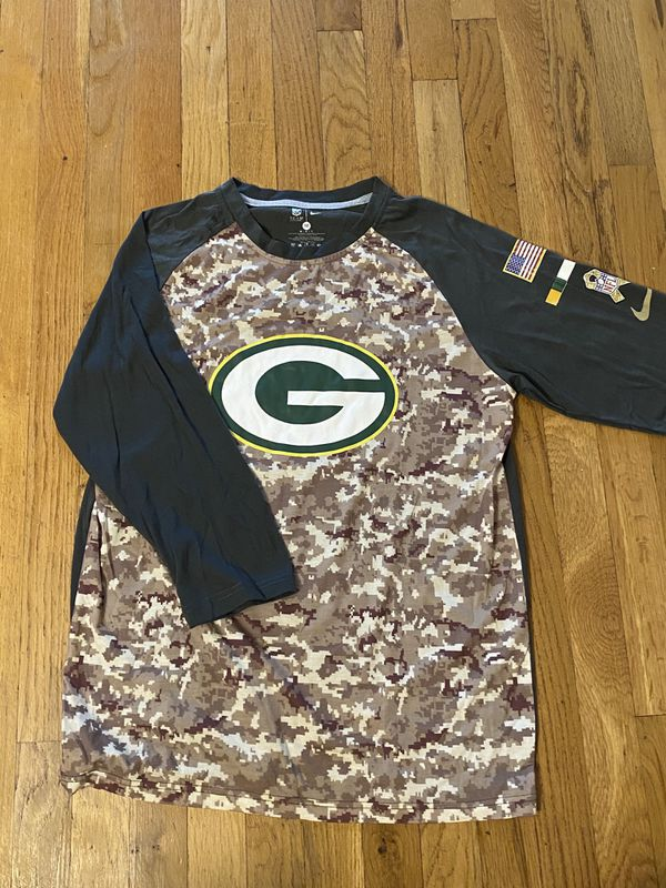 Men's Green Bay packers camo shirt