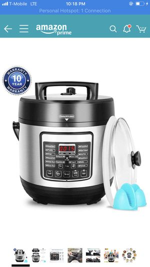 10-in-1 Multi-Function Pressure Cooker 6 Quart, Instant Programmable Rice Cooker, Slow Cooker, Sauté, Yogurt Maker, Baker, Egg Cooker, Hot Pot and St for Sale in Oakland, CA
