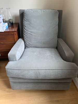 Greenish Gray Swivel Armchair Recliner for Sale in Alexandria, VA