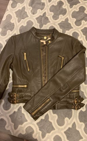 Michael Kors Leather Jacket for Sale in Sacramento, CA