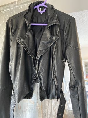 Free people black leather jacket - brand new size M for Sale in Newport Beach, CA