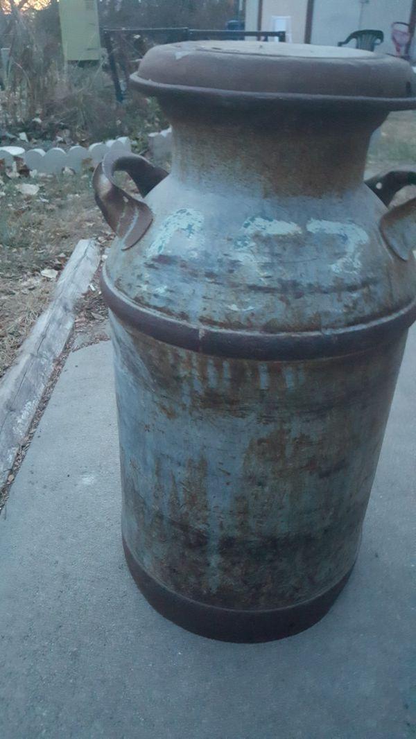 Vintage milk container