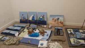 Sailboat baby decor nursery set for Sale in Richmond, CA