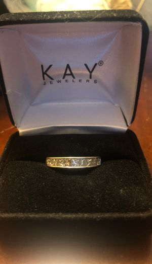 Engagement ring/ wedding band set with earrings and 2 pendants for Sale in Cleveland, OH