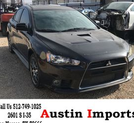 Part Out Or ALL Mitsubishi Lancer Evo Evolution X MR Turbo Engine Transmission Door Wheels Rims Bumper Trunk Parts Brembo Brakes hood Recaro Seats for Sale in San Marcos,  TX
