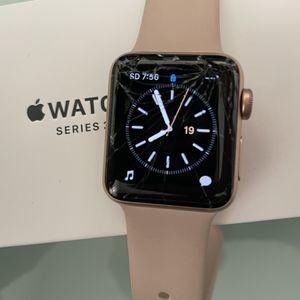 Apple Watch 38mm Series 3 Pink (Broken Screen) for Sale in San Marcos, CA