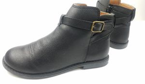 Gap Kids Youth Girl Faux Leather Ankle Buckle Black Boots Size 2 for Sale in Walton Hills, OH