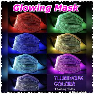 LED Light Up Face Mask 7 Colors Filter Glitter Bling Rechargeable $25 obo Glowing Mask for Sale in Norwalk, CA