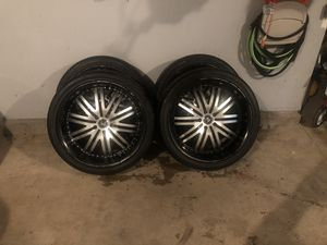 """22"""" alloy wheels / crave alloy with Yokohama tires for Sale in Lombard, IL"""