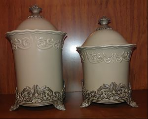 2 Piece Chris Madden Corvella Canister Set for Sale in Fort Worth, TX