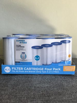 Pool Filter Cartridges Type A/C 4 Pack for Sale in Huntington Beach, CA