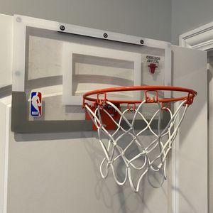 """Chicago Bulls Spalding NBA Over The Door Mini Basketball Hoop 18"""" x 10.5"""" Doorway Office Bedroom Jordan Jam Slam Dunk for Sale in Vernon Hills, IL"""