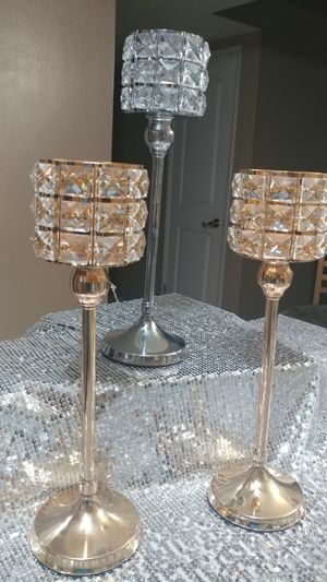 Set of 3 candle holders for Sale in Garden Grove, CA