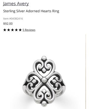 James Avery adorned hearts ring for Sale in Richmond, TX