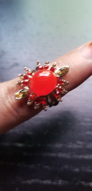 Opal sun set colour Ring set (3 Ring) size 7 for Sale in Chicago, IL