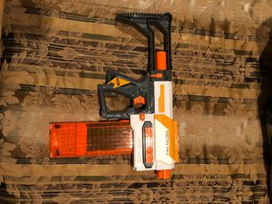 Nerf gun with extended mag all 18 bullets come with for Sale in San Jose, CA