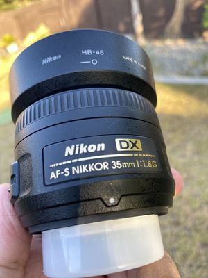 NIKON AF-S Nikkor 35mm 1:1.8G Lens for Sale in Bakersfield, CA