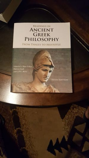 Readings in Ancient Greek Phylosophy from Thales to Aristotle Fifth Edition for Sale in Irwindale, CA