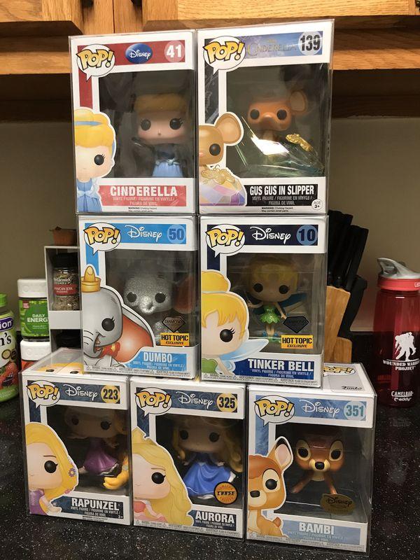 Various Disney Funko Pops