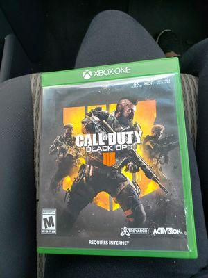 Xbox one call of duty black ops 4 for Sale in Auburn, WA