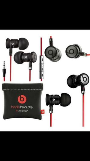 Black / Silver urBeats by Dr Dre Earbuds with Mic In-Ear Beats Headphones for Sale in Margate, FL