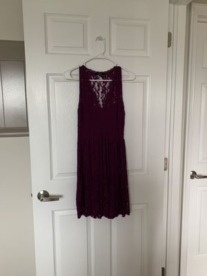 Purple lace v neck dress medium for Sale in Norristown, PA