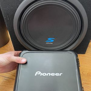 Alpine S7- 12in. Subwoofer W/box, Pioneer GM-DX871 CLASS D MONO AMP 1600 WATT MAX&MEMPHIS 4 Channel SIX 5 SERIES Amplifier For Speakers for Sale in Beverly Hills, CA