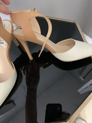 White and beige heels for Sale in Lehigh Acres, FL