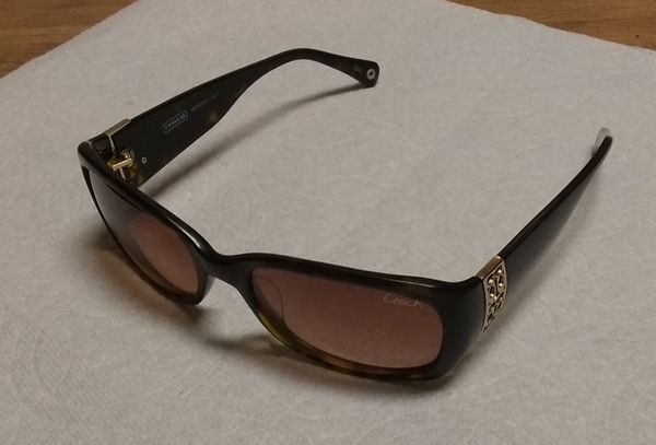 COACH SUNGLASSES Women's Bronwen S 823 FRAME 104 (Brown Lenses)