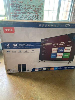 """65"""" TCL smart 4k HDTV for Sale in Canton, GA"""