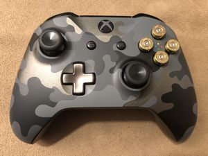 Custom Xbox One Camo Night Ops Limited Edition Wireless Controller! 9mm Real Metal Bullet Buttons! for Sale in Corona, CA