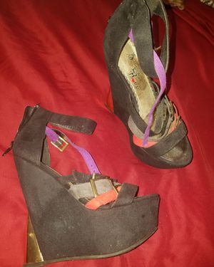Suede wedges sz 6 for Sale in Philadelphia, PA