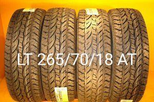 4 New tires LT 265/70/18 AT llantas nuevas for Sale in Chula Vista, CA