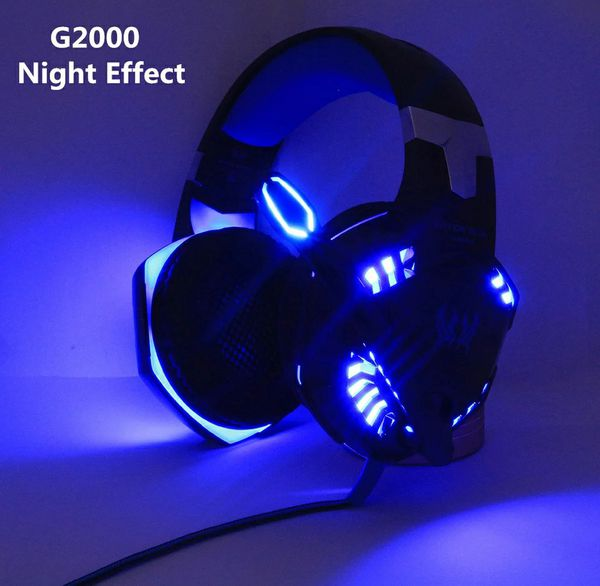 KOTION EACH Gaming Headphones Headset Deep Bass Stereo wired gamer Earphone Microphone with backlit for PS4 phone PC Laptop