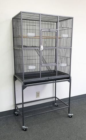 "Brand new $90 Large Bird Cage Parrot Ferret Cockatiel House Gym Perch Stand w/ Wheels 32""x18""x63"" for Sale in Pico Rivera, CA"