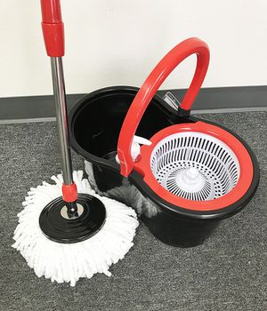 (NEW) $15 each Spin Mop 360 degree press mop bucket set with push and pull rotation for Sale in Pico Rivera, CA