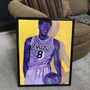 """22x28"""" FRAMED KOBE BRYANT POSTER OF MY PAINTING for Sale in Cromwell, CT"""