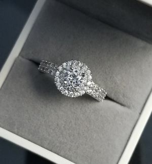 Round Cut S925 Sterling Silver Lab Diamond Ring Size 6,7,8,9 for Sale in Aspen Hill, MD