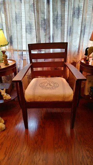 Antique seed sack chair for Sale in Bonaparte, IA
