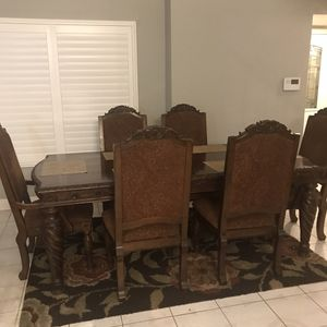 6 Chair and Dining Table for Sale in Rialto, CA