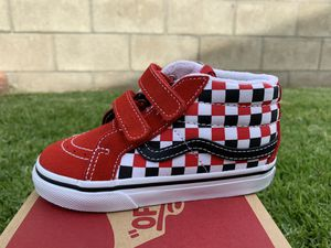 Vans sk8 mid reissue black white red new in box size 8 toddlers $40 pick up in Westminster ca for Sale in Westminster, CA