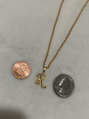 """R"" initial necklace (GOLD PLATED) for Sale in Paramount, CA"