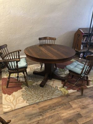 Real wood table with 3 chairs for Sale in Alvin, TX