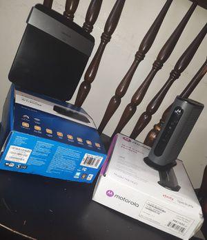Motorola Modem & Linksys Router for Sale in Saginaw, MI