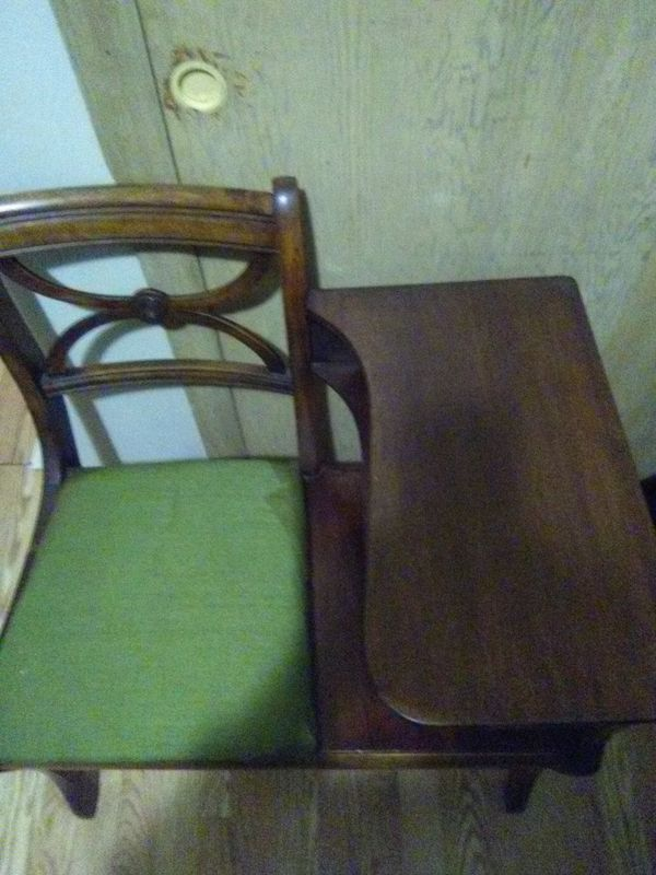 One sale for $89 until December 1st. A antique Conversation table/chair