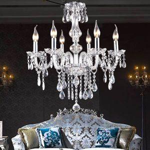Stunning 6 Lights Candle Clear Crystal Chandelier Elegant Ceiling Light Fixture Modern Elegant Hanging Lamp Lighting for Sale in Orlando, FL