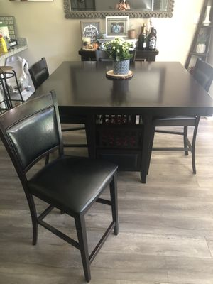 Dark brown high top table for Sale in San Jose, CA
