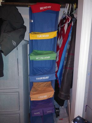 Monday - Friday closet organizer for Sale in Vancouver, WA