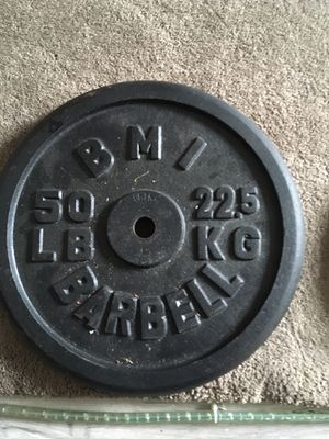 100 lbs of standard barbell plates for Sale in Reynoldsburg, OH